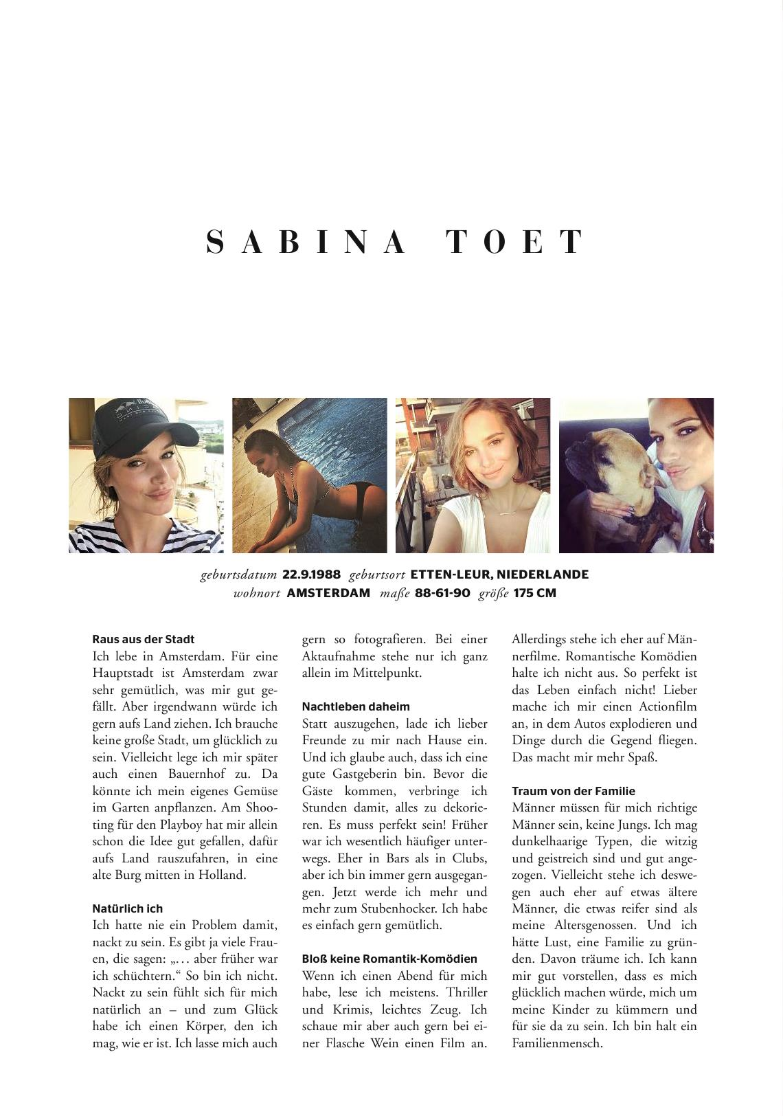 Toet  nackt Sabina Sabine Sauer